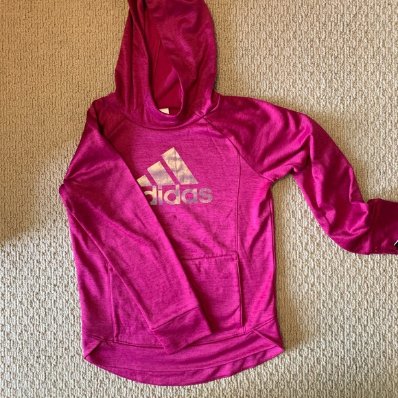adidas Other - Adidas Fuchsia Hoodie, New w Tags, M (10-12)